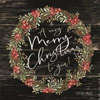A Very Merry Christmas Wreath Fine Art Print