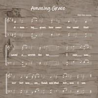 Amazing Grace Sheet Music Fine Art Print