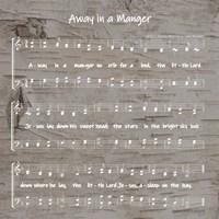 Away in the Manger Sheet Music Fine Art Print