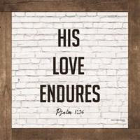 His Love Endures Fine Art Print