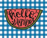Hello Summer Watermelon Fine Art Print