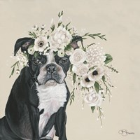 Dog and Flower Fine Art Print