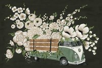 VW Bus Black Fine Art Print