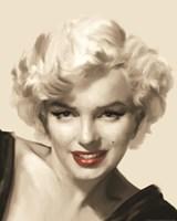 The Look Red Lips II Fine Art Print