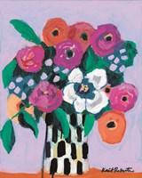 Bouquet on Lilac Fine Art Print