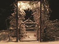 Snowy Garden Gate Fine Art Print