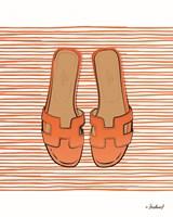 Orange Hermes Flats Fine Art Print