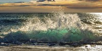 Wave Crashing on the Beach, Kauai Island, Hawaii (detail) Fine Art Print