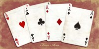 Four Aces (Red) Fine Art Print