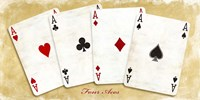 Four Aces (Gold) Fine Art Print