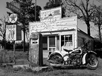 Abandoned Gas Station, New Mexico Fine Art Print