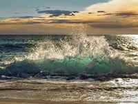 Wave Crashing on the Beach, Kauai Island, Hawaii Fine Art Print