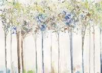 Indigo Ink Trees Fine Art Print