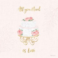 All You Need is Love IX Pink Fine Art Print