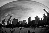 The Bean Chicago BW Fine Art Print