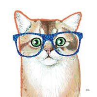 Bespectacled Pet II Fine Art Print