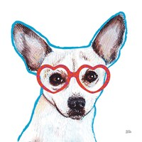 Bespectacled Pet I Fine Art Print