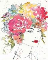 Floral Figures I Framed Print