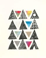 Triangles with Border Fine Art Print