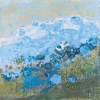 Blue Puffs Fine Art Print