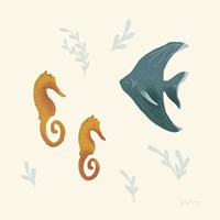 Ocean Life Seahorses Fine Art Print