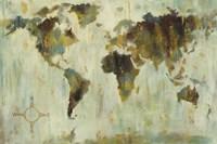 Bronze World Map Fine Art Print