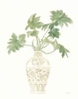 Palm Chinoiserie III Sage Framed Print