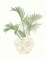 Palm Chinoiserie II Sage Framed Print