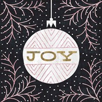 Jolly Holiday Ornaments Joy Metallic Fine Art Print