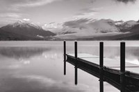 Lake McDonald Dock BW Fine Art Print