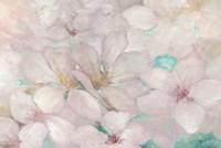 Apple Blossoms Teal Fine Art Print