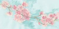 Cherry Blossom II Teal Fine Art Print