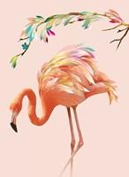Flamingo and Garland Fine Art Print