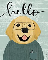 Hello Retriever Fine Art Print