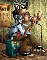 Bluesman Harmonica Fine Art Print