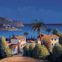 Mediterranean Morning Shadows I Fine Art Print