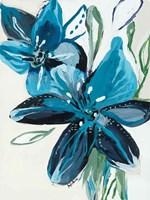 Flowers of Azure II Fine Art Print