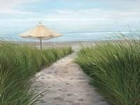 Umbrella on the Beach Fine Art Print