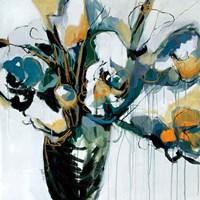 Blooms in Shamrock Grey Fine Art Print