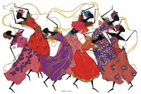 Lead Dancer In Purple Gown Fine Art Print