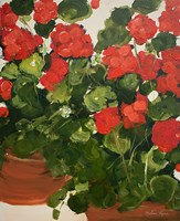 Red Geraniums Fine Art Print