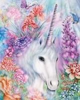 Floral Unicorn Fine Art Print