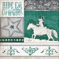 Ride 'Em Cowgirl Fine Art Print