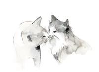 Cat Kiss Fine Art Print