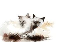 Cat Cuddles Fine Art Print