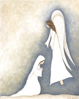 Mary and Angel Fine Art Print