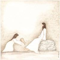 Woman Anoints Jesus with Perfume Fine Art Print