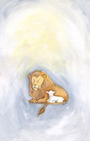 Lion and Lamb Fine Art Print