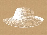 Burlap and White Sunhat Fine Art Print