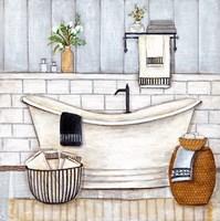 Upstate Farmhouse Bath II Fine Art Print